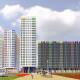 Contest project of residential complex in Mytischy, Moscow